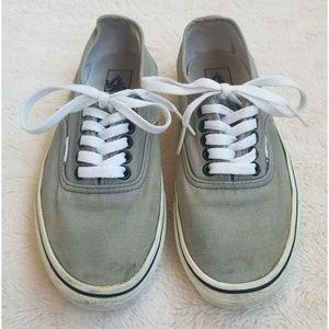 Gray Vans unisex lace up sneaker